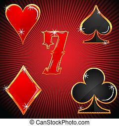 symbolen, casino, kleurrijke