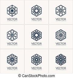 symbolen, decoratief, vector