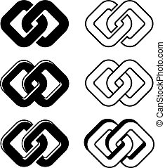 symbolen, eenheid, vector, black , witte