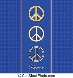 symbolen, gouden, vrede
