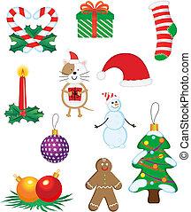 symbolen, kerstmis, iconen