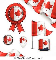 symbolen, nationale, canadees