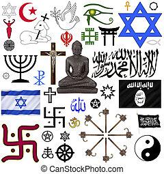 symbolen, religieus, -, vrijstaand