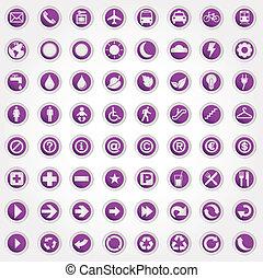 symbolen, set, iconen