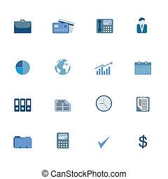 symbolen, set, zakelijk, pictogram