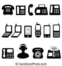symbolen, telefoon