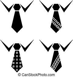 symbolen, vastknopen, vector, black