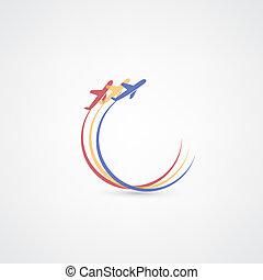 symbolen, vliegtuig