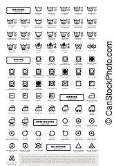 symbolen, wasserij, set, was, pictogram