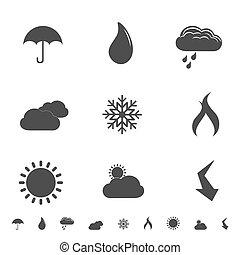 symbolen, weer, iconen