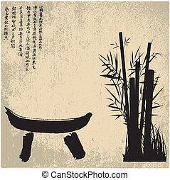 symbolen, zen, silhouette