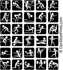 symbolen, zomer sporten