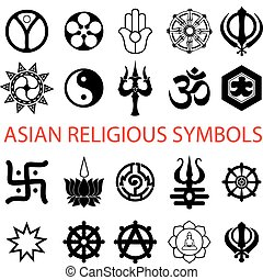 symboler, adskillige, religiøs
