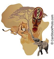 symboler, afrika