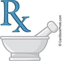 symboler, apotek