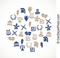 symboler, grekland
