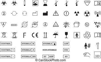 symboler, internationell, medicinsk