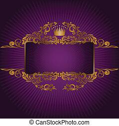 symboler, kunglig, baner