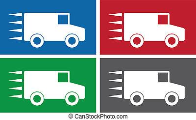 symboler, lastbil
