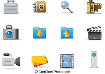 symboler, nät ikon