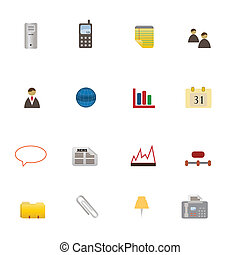 symboler, sæt, firma, ikon