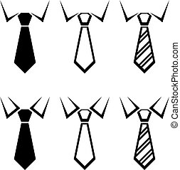 symboler, slips, vektor, sort