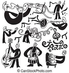 symboler, snack musiker