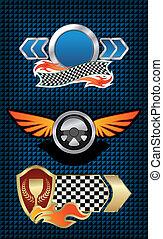 symboler, tävlings-, ikonen