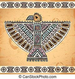 symboles, aigle, tribal, américain, indigène