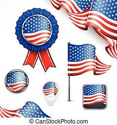 symboles, américain, national