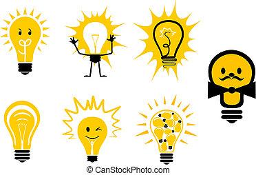 symboles, ampoules