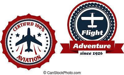 symboles, aviation, vol