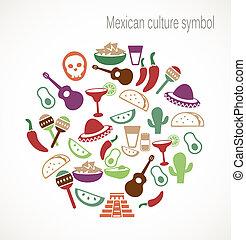 symboles, culture, mexicain