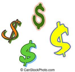 symboles, dollar