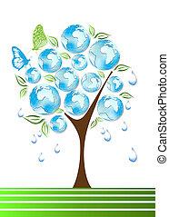symboles, eco, vert, bio, recycler