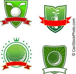 symboles, emblèmes, golf