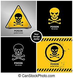 symboles, ensemble, poison
