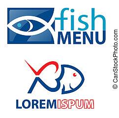 symboles, fish, élément