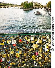 symboles, france., amour, paris