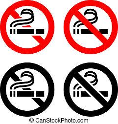 symboles, fumer, non