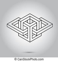 symboles, impossible, vie, arrière-plan., signes, sacré, ...