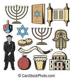 symboles, israël, culture, juif, religion, tradition