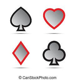 symboles, jeu carte