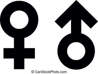 symboles, mâle, femme