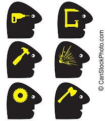 symboles, mal tête
