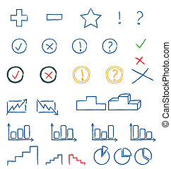 symboles, manuscrit
