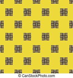 symboles, modèle, illustration, textile, adinkra, vecteur, africaine, ouest