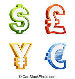 symboles monétaires
