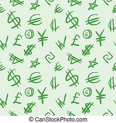 symboles, monnaie mondiale