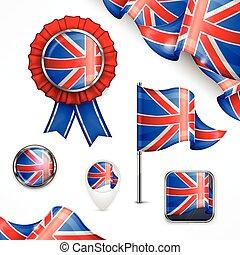 symboles, national, britannique